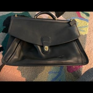 Coach leather soft side briefcase
